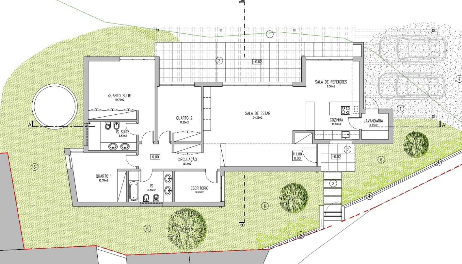 Projeto de casas em aço leve t3 +1 térreo
