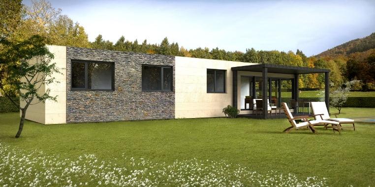 modelo de casa em aço leve