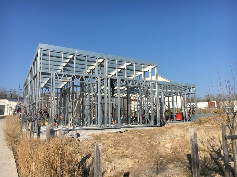 construção em aço leve