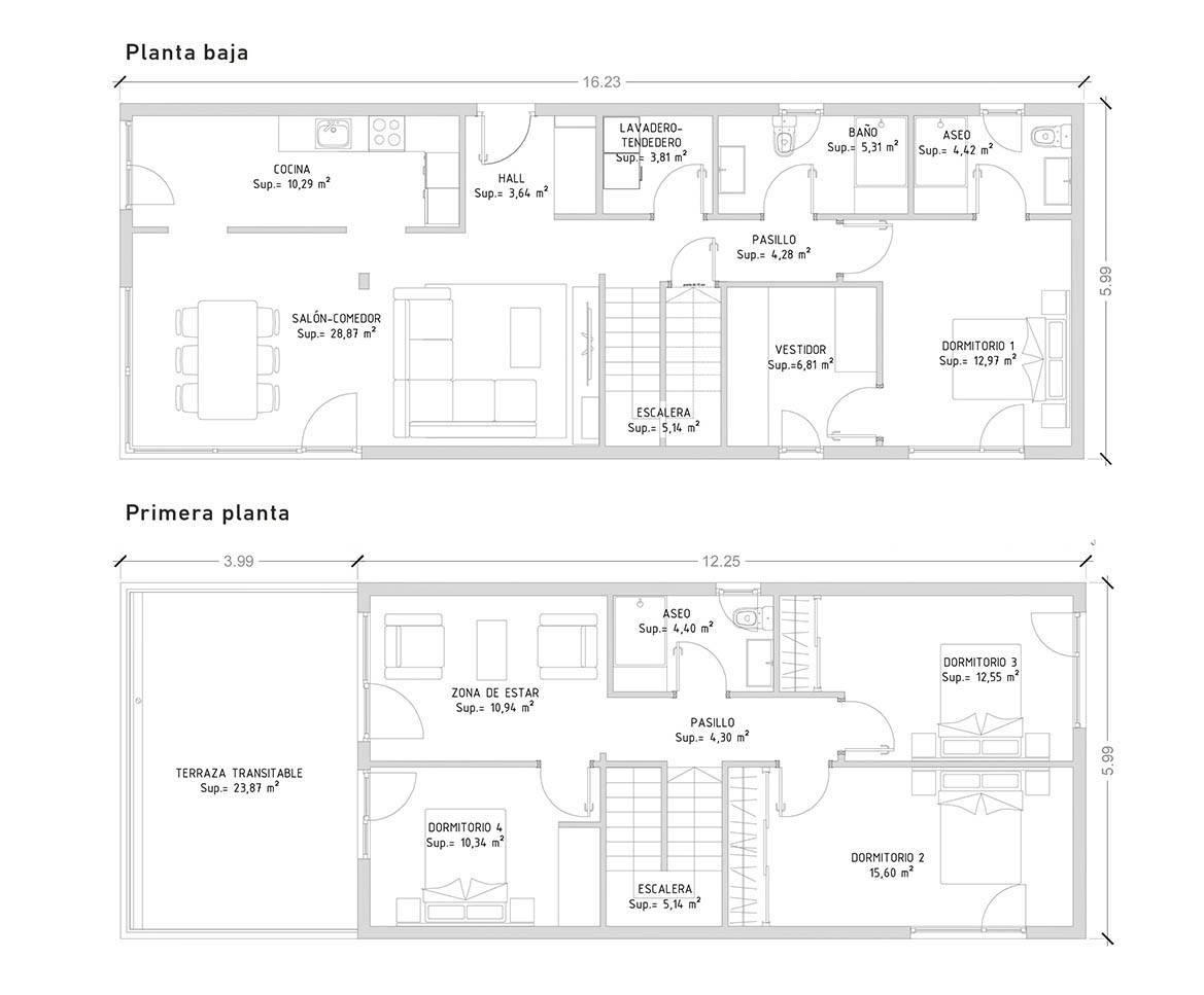 projeto de casas lsf com 4 quarto