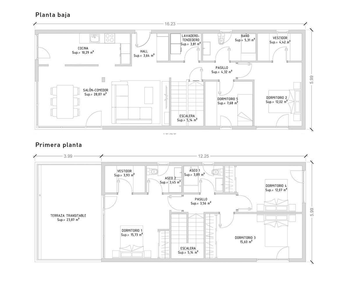 projeto de casas lsf com 5' quarto