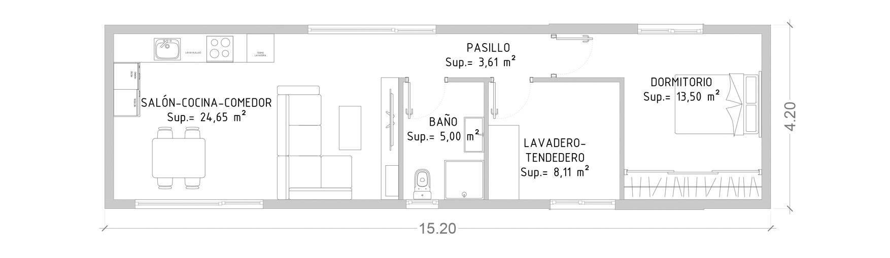 Projeto 62 m2