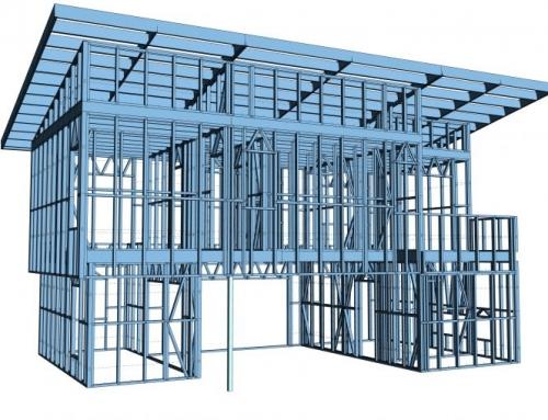Construção de estrutura de aço