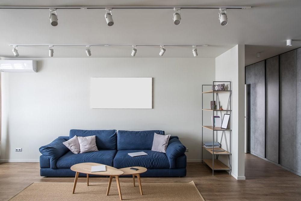 sala de estar ampliada após a demolição