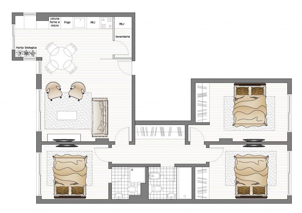 Projeto de casas modulares